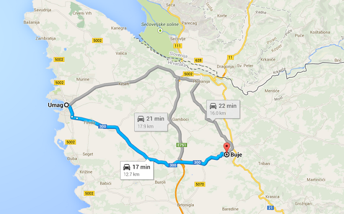 Umag, Buje, kam na izlet, Istra