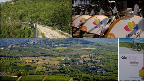 Umag, kolesarjenje v Umagu, kolesarske poti